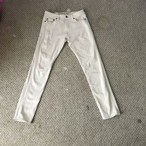 American Eagle Slim Fit White Jeans